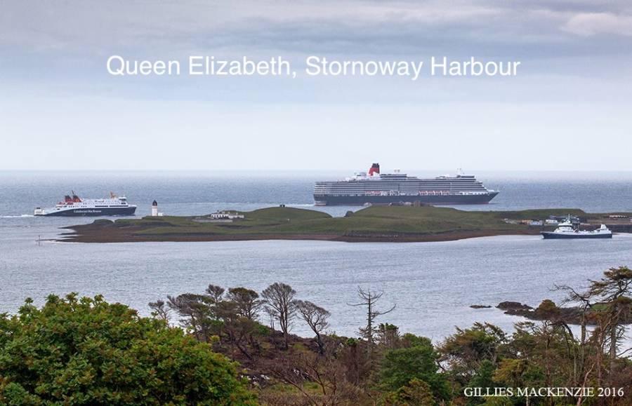 Queen Elizabeth Stornoway Harbour 29/06/2016